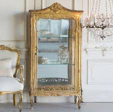 french country style vintage display cabinet 1940 kathy kuo home