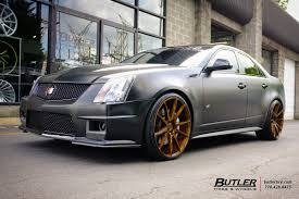 matte black cadillac cts v cadillac cts v with 22in savini bm12 wheels exclusively from