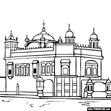 famous places and landmarks coloring pages page 1