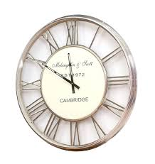 Awesome Clocks by Large Silver Wall Clock U2013 Digiscot