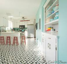 White Kitchen Tile Floor Painting Tile Floors All You Need To Bob Vila