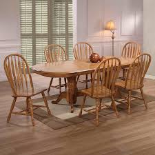 Flowy Solid Oak Dining Table With 6 Chairs D86 On Creative Home