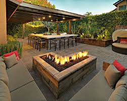 Square Firepit In Ground Pit Ideas How To Build A With Rocks Bricks Wood