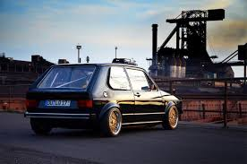 volkswagen golf wallpaper volkswagen evening morning street old car car drift golf