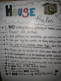 Family House Rules House Rules For My 8 13 Year Olds Or For Older Children Rules For