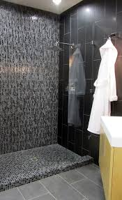 Black Sparkle Floor Tiles For Bathrooms 40 Black Slate Bathroom Tile Ideas And Pictures
