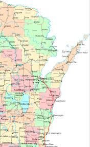 Map Of East United States by Online Map Of Wisconsin Central East