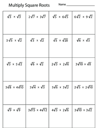 multiplying square roots worksheet by kevin wilda tpt