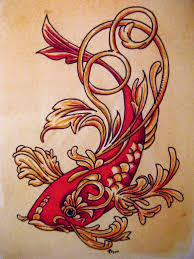 koi fish tattoo design nature water beautiful decorative animal