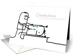 doctor of chiropractic graduation congratulations stick figures card
