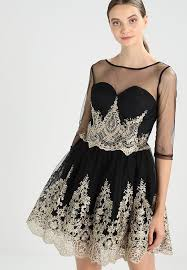 chi chi london ryanne cocktail dress party dress black gold