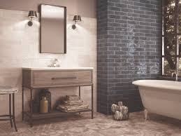 marine blue metro tiles with white detail tiles and patterned