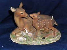 home interiors deer picture 2 homco porcelain bisque boy teeter totter figurines 1406