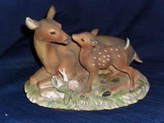 home interior deer pictures 2 homco porcelain bisque boy teeter totter figurines 1406