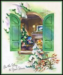 255 best old fashioned christmas cards windows images on