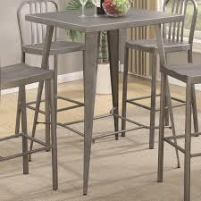 metal bar table set enchanting coaster 105938 square metal bar height dining table in
