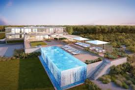 Pool Home 45m Hamptons Spec House Is Designed With Transparent Pool