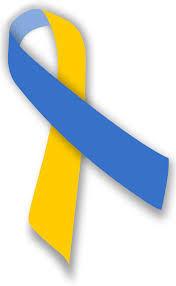 blue and yellow ribbon file blue and yellow ribbon svg wikimedia commons