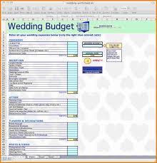 4 wedding budget excel expense report