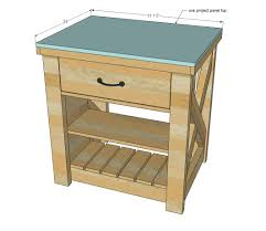 Free Woodworking Plans Small End Table by Ana White Rustic X Small Rolling Kitchen Island Diy Projects