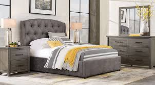 urban plains gray 5 pc king upholstered bedroom king bedroom