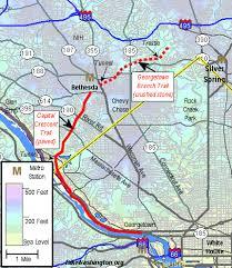 washington dc trolley map capital crescent trail d c rail trail