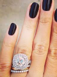 how to wear your wedding ring 19 gorgeous stacked wedding rings