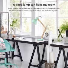 amazon com tomons dl1001gr swing arm desk lamp natural wood