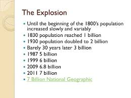 human population growth world population the explosion until the