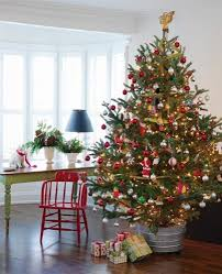 a tree skirt get a galvanized bucket that will fit your