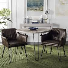 Modern Dining Living Room Chair Fox1705b Set2 Dining Chairs Furniture By Safavieh
