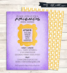 theme invitations friends tv show shower invitation bridal shower birthday