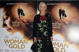 what is in style for a 70 year old woman helen mirren is the ultimate english rose at woman in gold premiere