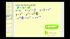 solve a bernoulli differential equation part 1 youtube