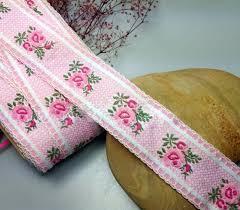 woven ribbon jacquard ribbon cotton trim roses ribbon trim ribbon yellow