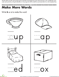 missing letter b and c words worksheet education com