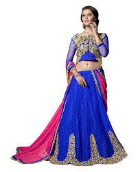 Buy Violet Embroidered Art Silk Panchhi Fashion Women U0027s Silk U0026 Georgette Lehenga Choli Amazon