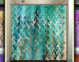 Turquoise Shower Curtains Stylist Design Turquoise And Brown Shower Curtain Aqua Etsy