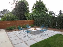Patio Designs With Concrete Pavers Paver Patio Designs Patio Contemporary With Blue Outdoor Chair