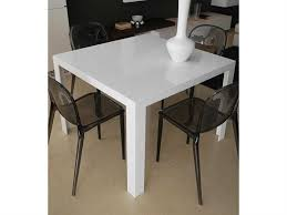 kartell glossy dining table kartell invisible glossy white 39 wide square dining table kar5070e5