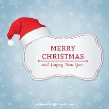 card with santa hat vector free