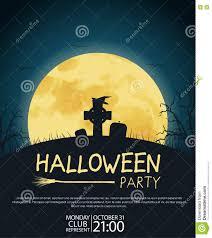 design posters halloween parties stock vector image 77336824