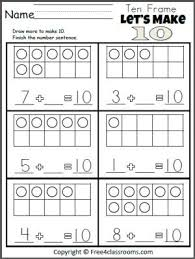 free let u0027s make 10 addition worksheet teacher ideas pinterest