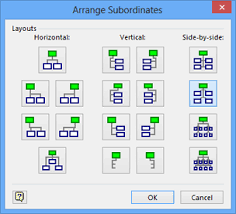 microsoft visio 2013 altering org chart layout and appearance