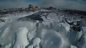 exclusive drone video shows frozen niagara falls nbc