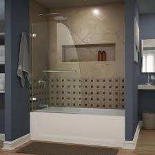 frameless glass tub doors dreamline aqua uno 34 in x 58 in frameless hinged tub door in