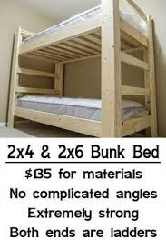 Make Wood Bunk Beds by Easy Strong Cheap Bunk Bed Diy Wood Projects Pinterest