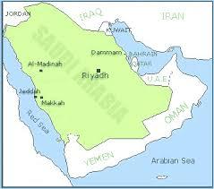 middle east map medina saudi arabia