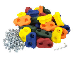 30 large kids rock climbing holds with mounting hardware for 1