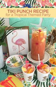 tiki punch recipe for a tropical themed party or luau